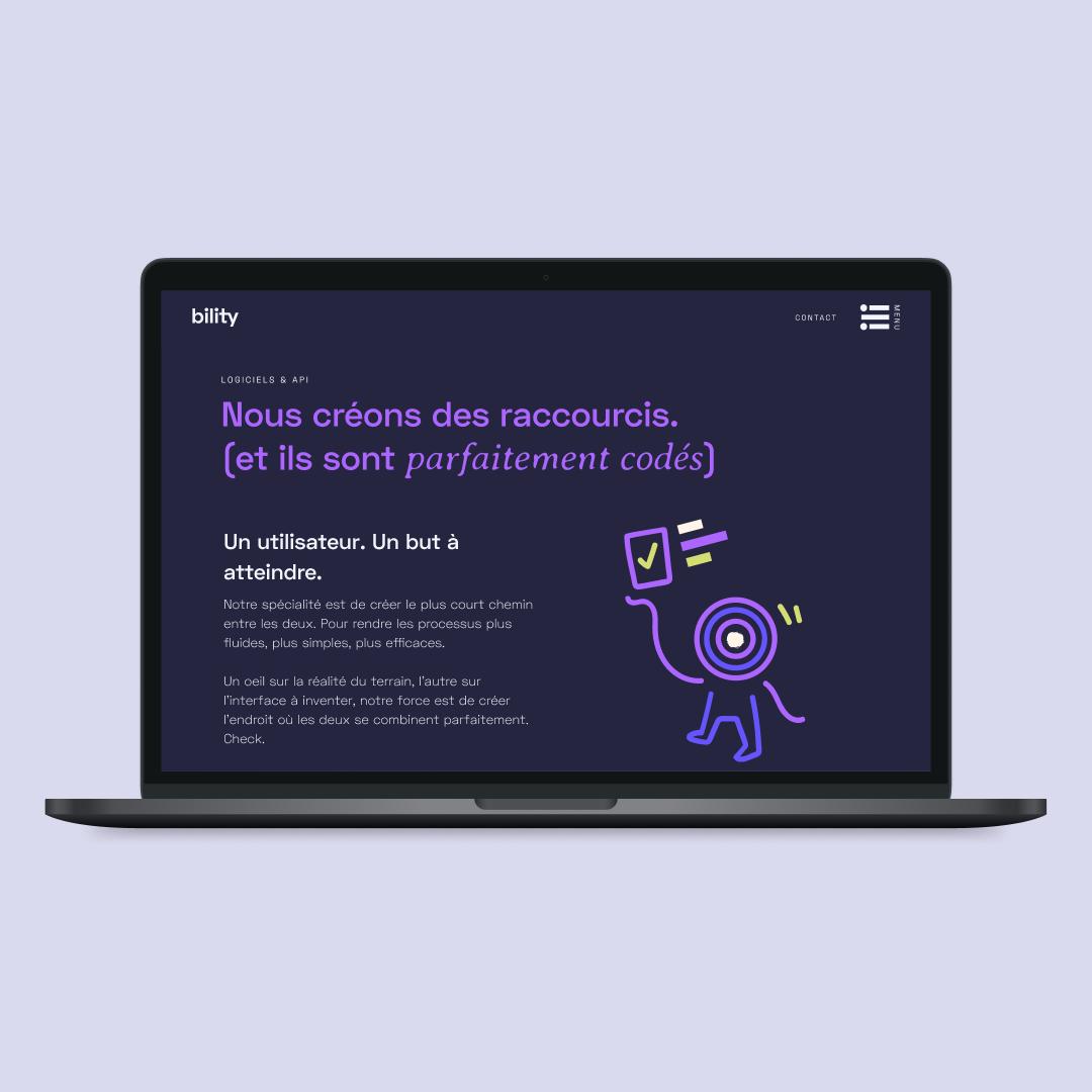 bility-website-interface