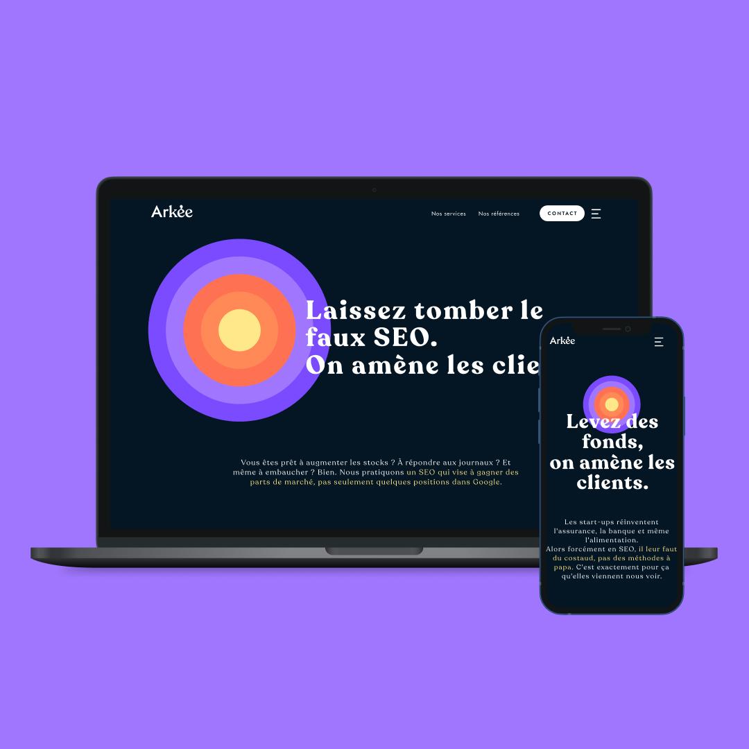 arkee - site web - homepage